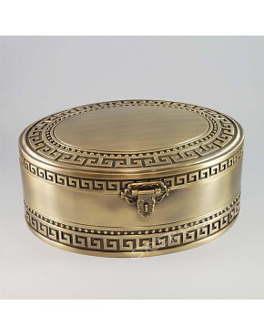 Mosiądzowana kasetka na biżuterię 461-4431