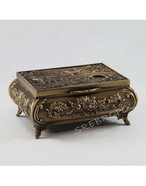 Mosiądzowana szkatułka na biżuterię 472-4080