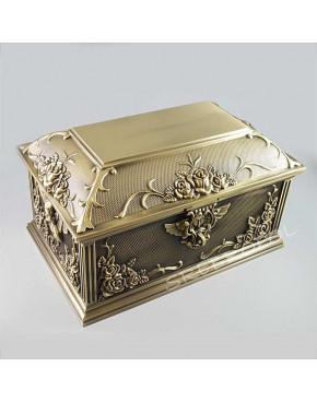 Mosiądzowany kuferek na biżuterię 461-4787