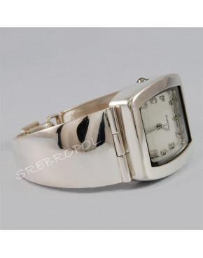 Zegarek srebrny damski na bransolecie Violett 56