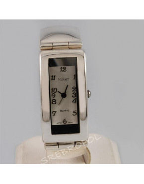 Zegarek srebrny damski na bransolecie Violett 64