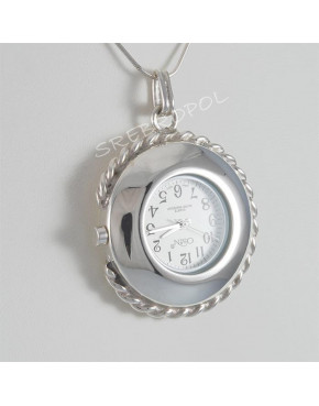 Zegarek srebrny damski na łańcuszek Osin 30