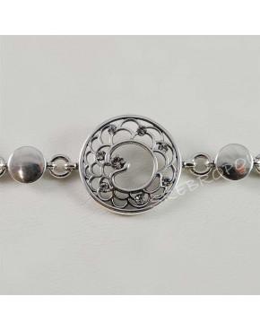 Bransoletka, kolczyki, wisiorek i pierścionek - biżuteria srebrna