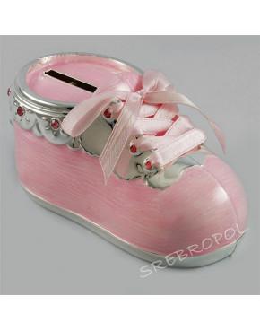 Skarbonka - różowy bucik dla dziewczynki 473-3042