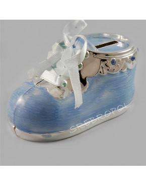 Skarbonka - niebieski bucik dla chłopczyka 473-3043