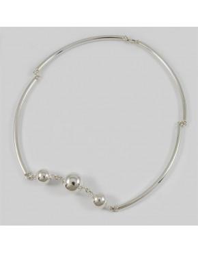 Naszyjnik srebrny z kuleczkami N-7 D 73/5 19.5g
