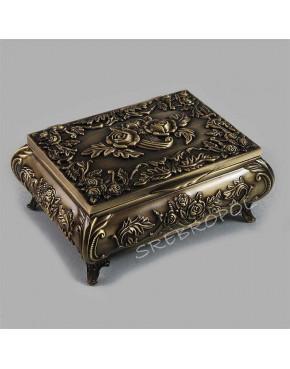 Mosiądzowana szkatułka na biżuterię 472-4071