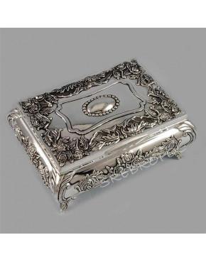 Posrebrzana kasetka, szkatułka na biżuterię 472-4309