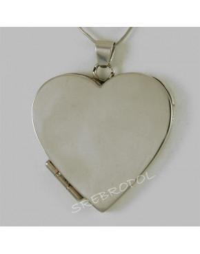 Zawieszka srebrna serce otwierane W 110/0