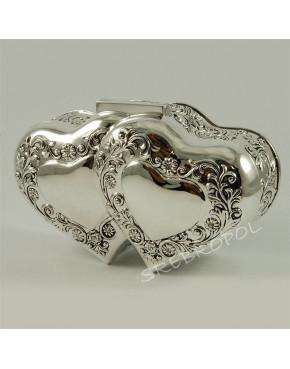 Posrebrzana szkatułka na biżuterię + pozytywka 461-4893