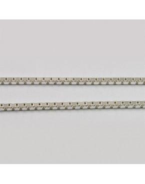 Łańcuszek srebrny kosteczka Ł9/0 45cm