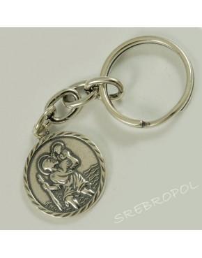 Brelok srebrny św. Krzysztof BR 39/0B