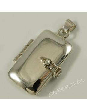 Srebrny sekretnik w kształcie prostokąta W 66/0 S1