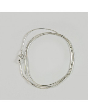 Łańcuszek srebrny linka - splot sześciokątny 50 cm ŁAN31