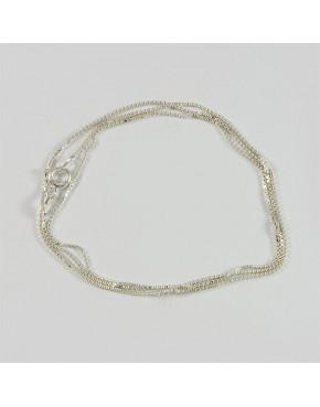 Łańcuszek srebrny kosteczka Ł10/0 50cm