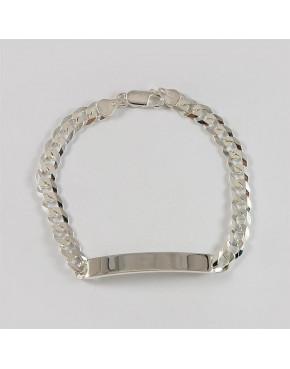 Bransoletka srebrna pancerka z blaszką B57/0 12.7g