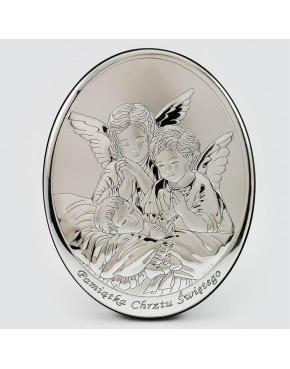 Anioł stróż z dzieckiem - Pamiątka Chrztu Świętego 000605
