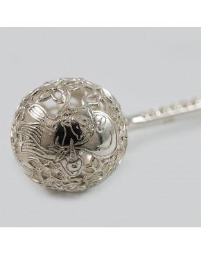 Grzechotka srebrna otwierana - połysk Grzech 89/0