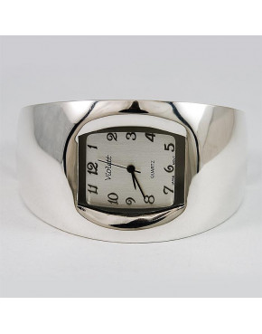 Zegarek srebrny damski na bransolecie + opcja grawer Violett 98