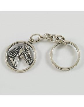 Brelok srebrny dwustronny z głową konia