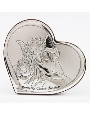 Anioł stróż z latarenką nad dzieckiem - Pamiątka Chrztu Świętego 815-0118