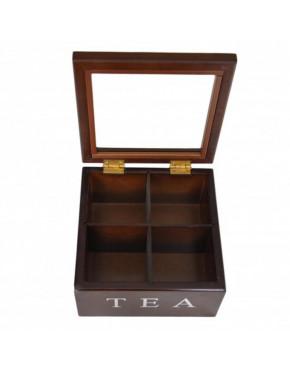 Drewniana skrzynka na herbatę 777-214