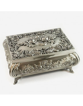 Kasetka, szkatułka na biżuterię cynowana 472-4286