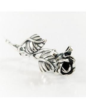 Broszka srebrna róża BR18