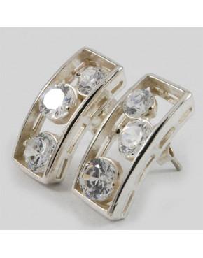 Kolczyki srebrne z cyrkoniami SB 4.6g