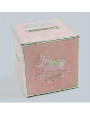Skarbonka - kostka różowa 473-3261