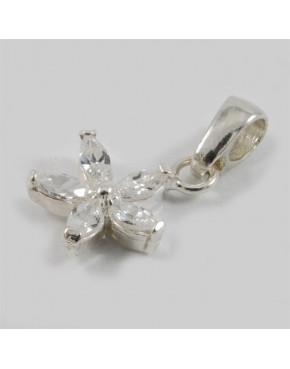 Wisiorek srebrny kwiatuszek z cyrkoniami SE 1.7g