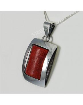 Wisiorek srebrny z koralowcem FD 13.4g