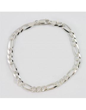 Bransoletka srebrna figaro 19cm BRA50