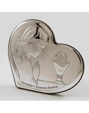 Ikona, obrazek srebrny - Pamiątka I Komunii Świętej 6528/2A