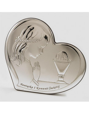Ikona, obrazek srebrny - Pamiątka I Komunii Świętej 6528/3A