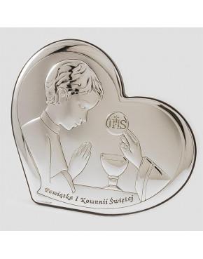 Ikona, obrazek srebrny - Pamiątka I Komunii Świętej 6517/3O