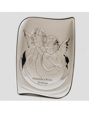 Aniołki z serduszkiem - Pamiątka Chrztu Świętego 6519S/2X