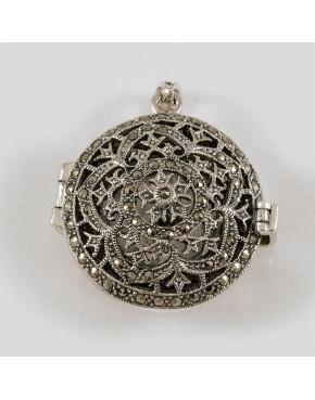 Zegarek srebrny damski na łańcuszek - markazyty  175/T