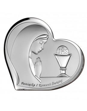 Ikona, obrazek srebrny - Pamiątka I Komunii Świętej 6518/3A