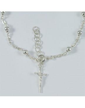 Dziesiątka różańca - bransoletka srebrna
