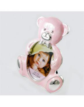 Ramka w kształcie różowego misia dla dziewczynki 473-3235