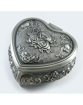 Cynowana szkatułka w kształcie serca 461-4940