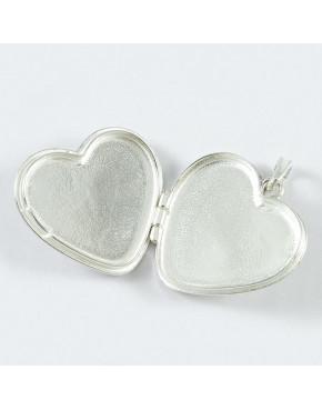 Sekretnik srebrny, wisiorek serce WI42
