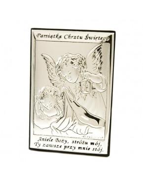 Anioł stróż z latarenką nad dzieckiem - Pamiątka Chrztu Świętego 6572/2