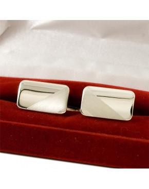 Srebrne spinki do mankietów połysk-mat S8
