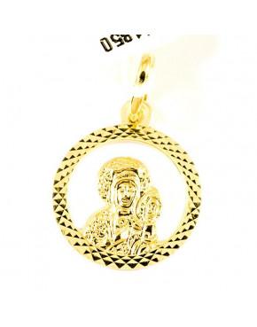 Złoty medalik Matka Boska Częstochowska pr 585 ZŁ10