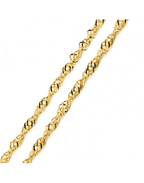 Złoty wisiorek serce z łańcuszkiem pr. 585 ZŁ19