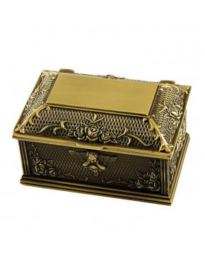 Mosiądzowana szkatułka na biżuterię 472-4095