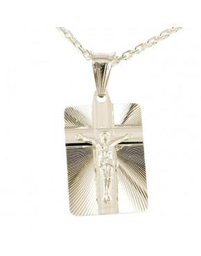 Medalik srebrny Jezus Chrystus M26