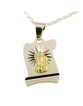 Medalik srebrny Matka Boska Częstochowska M29